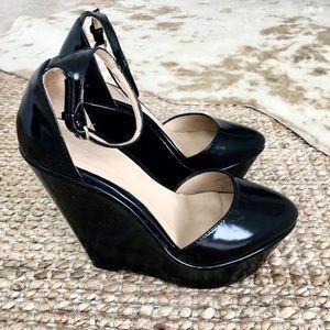 Zara Black Mary Jane Wedges